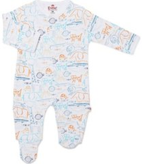 baby boy or girl wa-zoo magnetic footie one piece