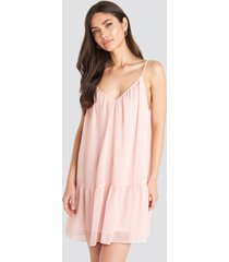 na-kd trend thin strap short dress - pink