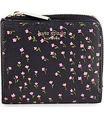 floral leather bi-fold wallet