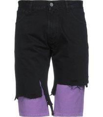 raf simons denim shorts