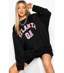 oversized atlanta sweater, zwart
