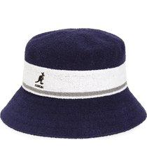 kangol bermuda stripe bucket hat, size small in navy at nordstrom