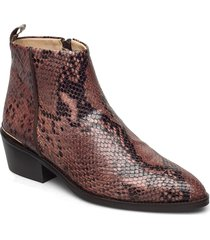 cadena snake shoes boots ankle boots ankle boot - heel rosa gardenia