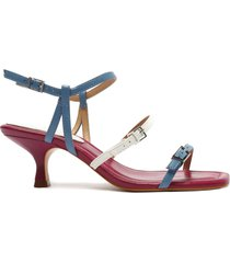 dalilla leather sandal - 9.5 summer jeans and white nappa leather