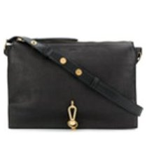 allsaints bolsa tiracolo de couro - preto