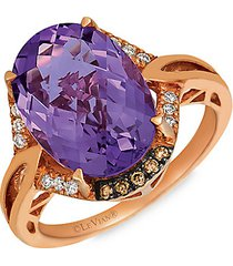 le vian chocolatier® 14k strawberry gold®, grape amethyst™, chocolate diamonds® & vanilla diamonds® ring