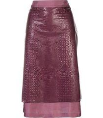 sies marjan crocodile embossed skirt - purple