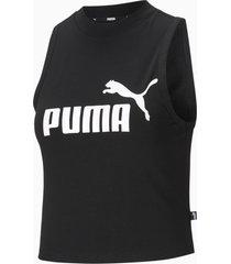 essentials tanktop met hoge hals dames, zwart, maat xxs | puma