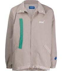 ader error strap detail coat - neutrals