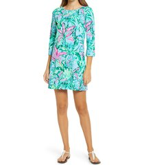 women's lilly pulitzer linden pima cotton shift dress, size xx-small - blue