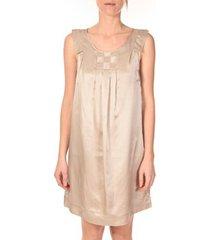 korte jurk vero moda robe pepper 10049488 beige