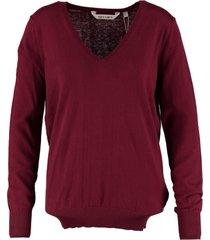 garcia zachte trui met kasjmier burgundy red