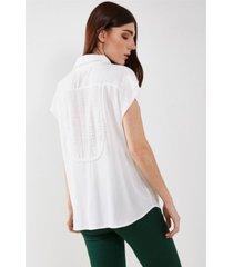 camisa blanca valdivia rayas
