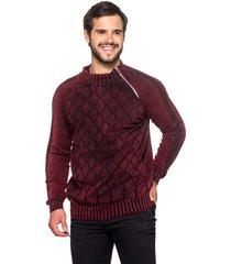 blusa officina do tricô hungria vinho