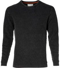 no excess pullover - modern fit - antraciet