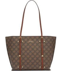 dkny bo logo crosshatched tote