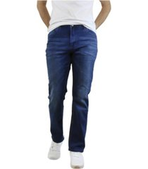galaxy by harvic men's washed straight leg stretch jeans