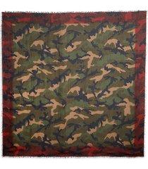 valentino garavani men's camo-print scarf - army