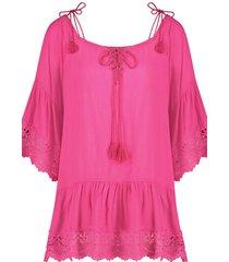 hunkemöller lace trim tunika rosa
