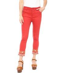 jeans tentation burdeo - calce ajustado