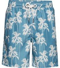 printed swim shorts badshorts blå lindbergh