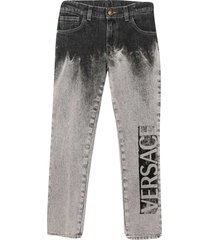 young versace gray jeans