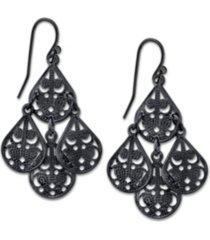2028 pear shaped filigree drop earrings