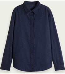 scotch & soda katoenen denim blouse