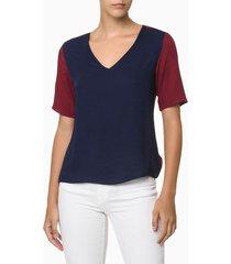 camisa feminina bicolor - 36