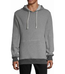 alternative men's basic fleece hoodie - grey - size l