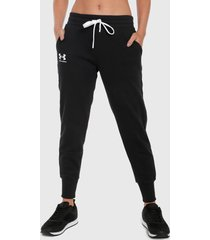 pantalón negro-blanco under armour
