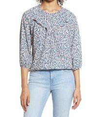 women's bobeau ruffle blouse, size x-large - pink