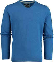 basefield pullover blauw v-hals stretch 219015014/606