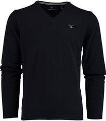 gant pullover lamswol donkerblauw 86212/410