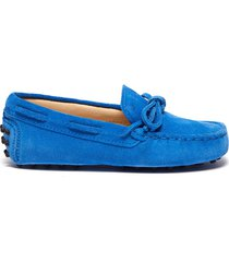 'gommini' tie suede toddler driving shoes