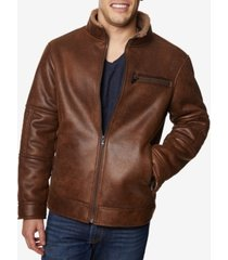 buffalo david bitton men's big & tall faux-leather jacket