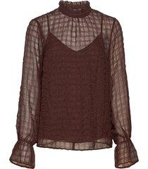 pakwaiw blouse blouse lange mouwen bruin inwear