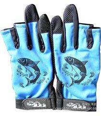 fishing lure 3 cut finger gloves anti-slip gloves
