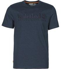 t-shirt korte mouw timberland ss outdoor heritage linear logo tee regular