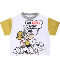 burberry white babykids t-shirt with colorful print