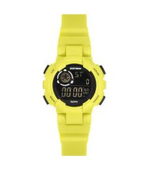 relógio digital mormaii feminino - mo1800ab/8v amarelo neon
