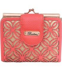 buxton women's metallic laser cut rfid lexington wallet