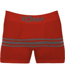 cueca boxer zorba seamelss listras 843 vermelho escuro.