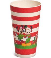 enfeite natal decorativo copo listrado mickey e minnie noel - vermelho - dafiti