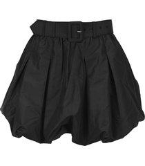 self portrait taffeta shorts