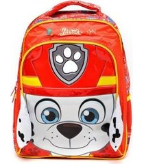 mochila escolar de costas patrulha canina