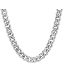 steeltime men's stainless steel thick accented cuban link style chain necklaces