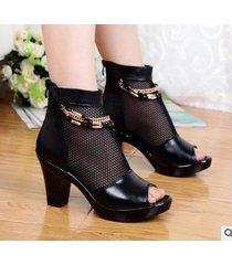 sandalias de plataforma de punta abierta para mujer sandalias de