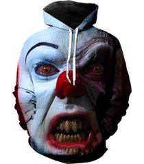 2017 it 3d pennywise clown pullover hoodie unisex digital print sweatshirts