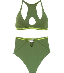 amir slama hot pants bikini - green
